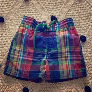 Other - Ralph Lauren baby swim trunks size 12 mos EUC!